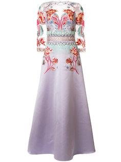 расклешенное платье Porcelain Temperley London