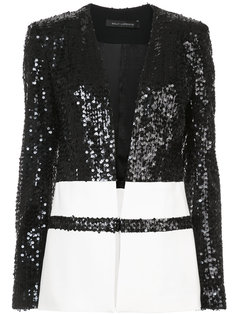 contrast panelled sequin jacket Sally Lapointe