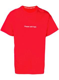 футболка с принтом Please F.A.M.T.