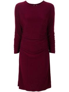 облегающее платье со сборками Norma Kamali