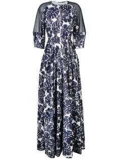 платье с цветочным принтом  Talbot Runhof