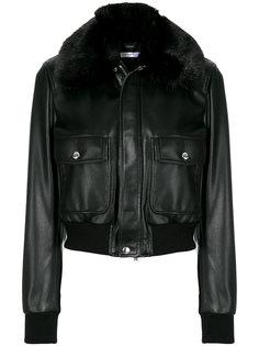 куртка-бомбер с воротником с меховой отделкой Givenchy