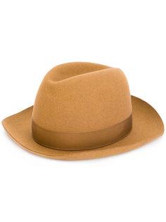 классическая шляпа-хомбург Borsalino