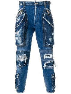 джинсы карго с рваными деталями Dsquared2