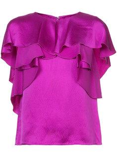 ruffle blouse Monique Lhuillier
