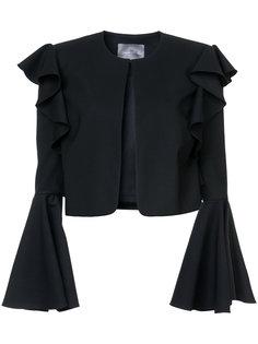 укороченный пиджак с рукавами-колокол Monique Lhuillier