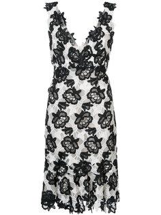 платье с цветочным узором  Monique Lhuillier