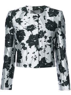 floral cloque jacquard jacket Monique Lhuillier
