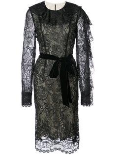 платье с кружевной отделкой Monique Lhuillier