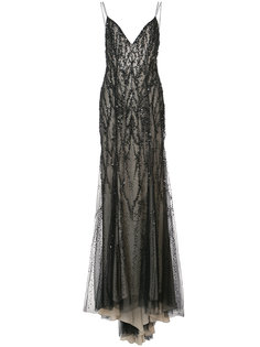 вечернее платье с вышивкой Monique Lhuillier