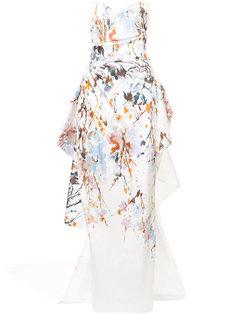 вечернее платье без бретелек Monique Lhuillier