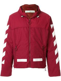 куртка-пуховик с контрастными полосами Off-White