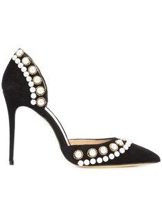 туфли с отделкой из жемчуга Monique Lhuillier
