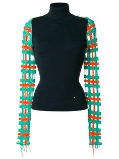 свитер-водолазка с контрастными рукавами  Esteban Cortazar