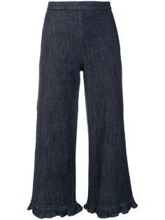 широкие укороченные брюки Manoush