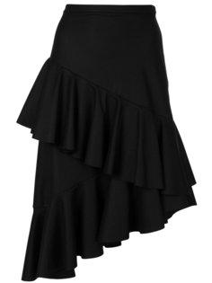 асимметричная юбка с отделкой из воланов Isa Arfen