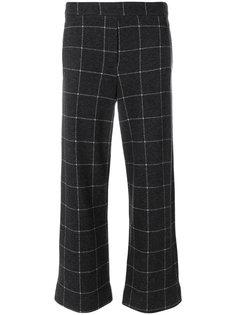укороченные брюки в клетку  Woolrich