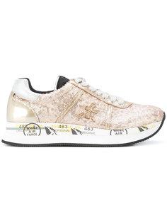 кроссовки на шнуровке с пайетками Premiata
