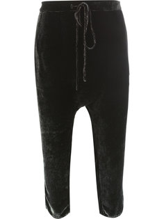 укороченные брюки со шнурком  Masnada