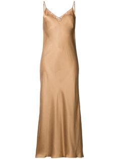 платье макси с кружевной отделкой  Mes Demoiselles