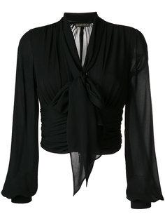укороченная блузка с епископскими рукавами Plein Sud