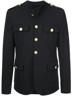 пиджак в стиле милитари с эполетами Pierre Balmain