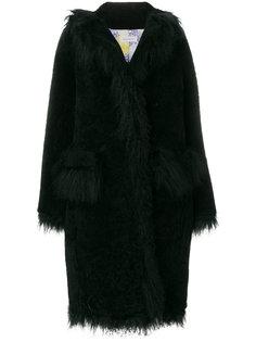 пальто с пушистой отделкой Saks Potts