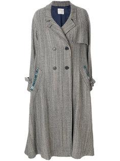 двубортное пальто с завязками на рукавах Forte Forte