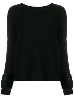 приталенный свитер с меховой отделкой Simonetta Ravizza