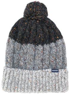полосатая шапка с помпоном Woolrich