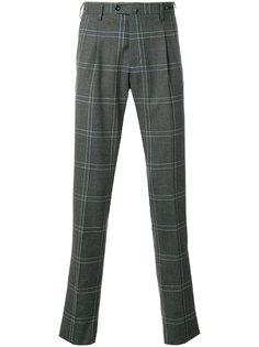 классические брюки в клетку Pt01