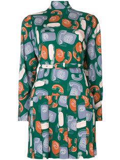 платье-скейтер с телефонами Miu Miu