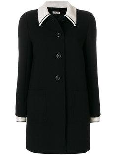 пальто с контрастным воротником Miu Miu
