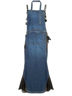 джинсовое платье макси Sacai