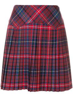 плиссированная мини-юбка в клетку Tommy Hilfiger