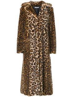 пальто с леопардовым принтом  Vivetta
