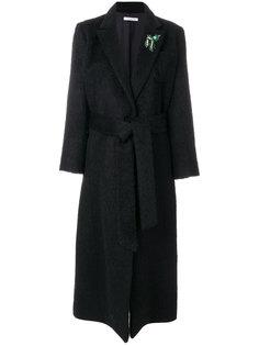 длинное пальто с поясом Vivetta