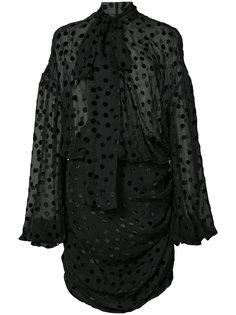 платье с узором в горох и завязкой на бант Magda Butrym