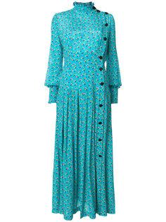платье макси с цветочным принтом  Alessandra Rich