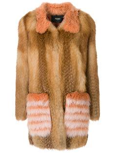 свободное пальто  Fendi