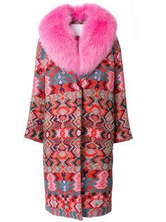 пальто с меховой отделкой  Giada Benincasa