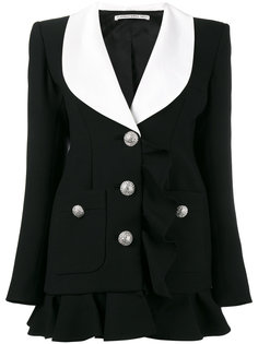 однобортное платье-блейзер Alessandra Rich