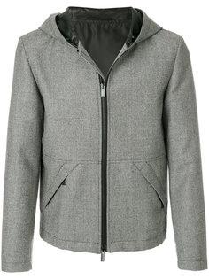 куртка с капюшоном и мелким узором Fendi