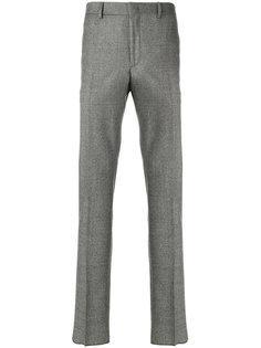 брюки в ломаную клетку Fendi