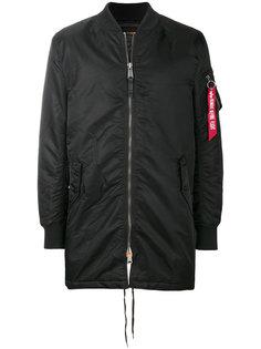 удлиненный куртка-бомбер   Alpha Industries
