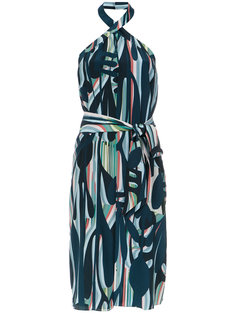 printed halterneck dress Tufi Duek