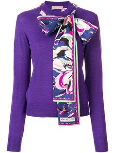 свитер с шарфом Emilio Pucci