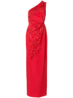 платье со сборками с пайетками Emilio Pucci