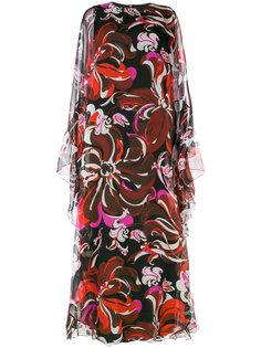 платье-кафтан с принтом Emilio Pucci