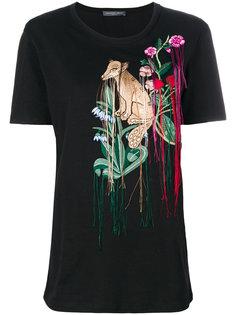 футболка с вышивкой Alexander McQueen